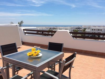 Photo for Nuestra Casa, apartment with roof terrace and shared swimming pool