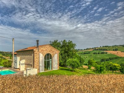 Photo for Beautifully designed house with pool and stunning views