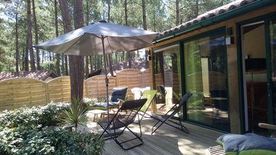 Photo for Lovely holiday home under the pines / 2 bikes