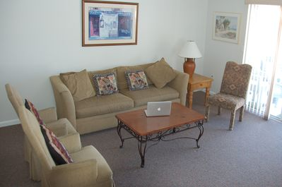 Plenty of seating in living room area