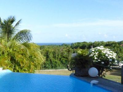 Photo for Superb Villa Bleue-Pool-Sea View-Garden-Ste Anne
