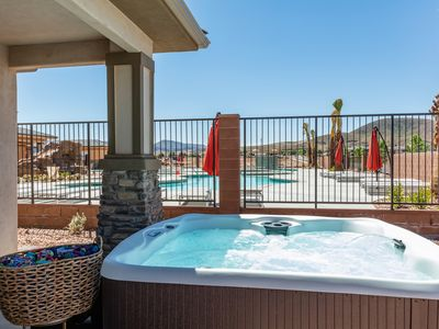 Photo for Fantastic New 7 bdrm resort townhome Near Zion National Park w/ Private hot tub!