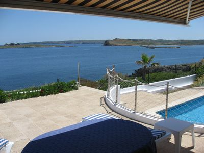 Photo for Beautiful twin villa with splendid sea view, private pool maintained