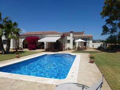 Photo for Exclusive Villa with Private Pool, Large Secluded Gardens and Golf Driving Range