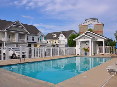 Photo for Quick Walk to Beach Beautiful 4 BR Townhome Sleeps 10 w/ Pool and Gated Community