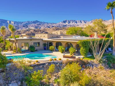 """Photo for New Listing! Private Valley-View """"Cliff House"""" on 5 Acres - Pool, Spa, Garden"""
