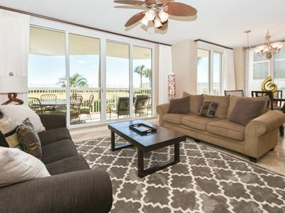 Photo for Extra Large End Unit Condo: Private Patio Access to Private Resort Beach & Pool!
