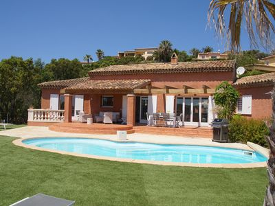 Photo for Beautiful sea view villa, with pool, quiet and spacious, in Sainte Maxime.