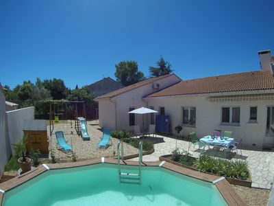 Photo for Spacious villa with large plot and above ground pool.