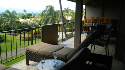 Photo for Ocean Views from Maui Eldorado One Bedroom/Two Bath D206!  Private Location!