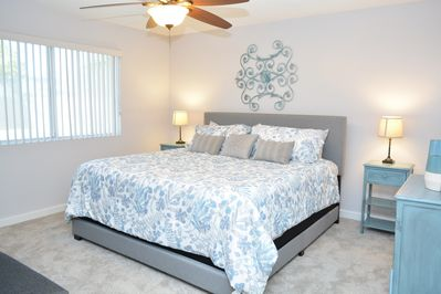 You'll love waking up in this gorgeous master bedroom.