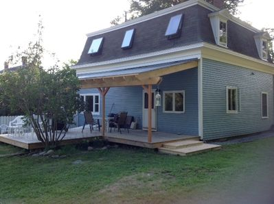 Main entrance over the rear deck into the kitchen