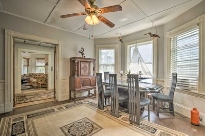 Enjoy a homemade meal in the dining room of this vacation rental!