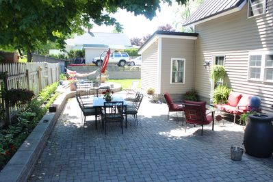 Large Patio for outdoor dining