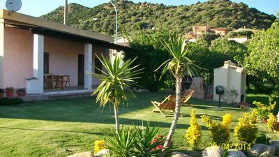 Photo for Chia delightful independent villa on the sea with a wonderful and large garden