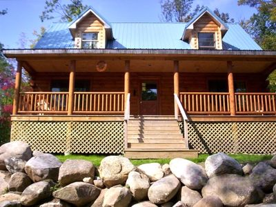 Photo for Adirondack 'Bearfoot' Cabin - Minutes to Whiteface!!