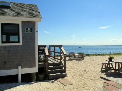 Photo for Welcome to an enchanting waterfront beach cottage!