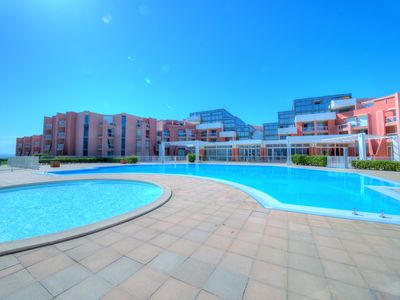Photo for STUDIO 4 PERS REZ DE JARDIN, PISCINE, TENNIS, ACCES DIRECT PLAGES