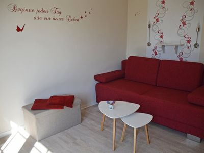"""Photo for Apartment """"Abendrot"""" up to 4 persons, 1 bedroom, 1 living-bedroom, 2 bathrooms"""