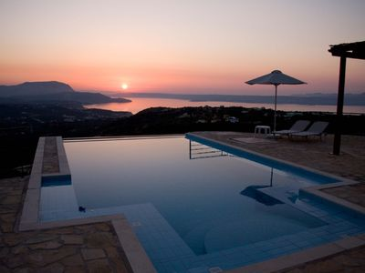 Photo for 3 bedroom villa with private infinity pool and panoramic sea and mountain views.