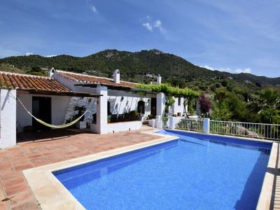 Photo for Luxury authentic cortijo, private pool, magnificent seaviews, wheelchairfriendly
