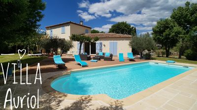 Photo for Auriol Provençal villa, 4 bedrooms, 2 bathrooms, sleeps 8, fully equipped, WIFI, 10x4 pool