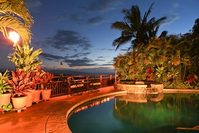 Maui sunsets can't be beat... especially with your own private pool and hot tub
