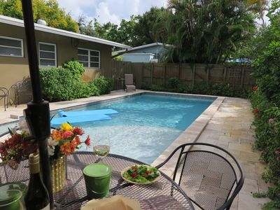 Photo for (AT) Wilton Manors, Private Pool 3b/2b, Walk to dining