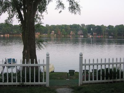 View of the lake from the house