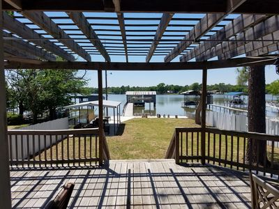 "Photo for ""Twin Pines""- Lakefront House w/ Boat House, Kayaks & Over Water Swings"