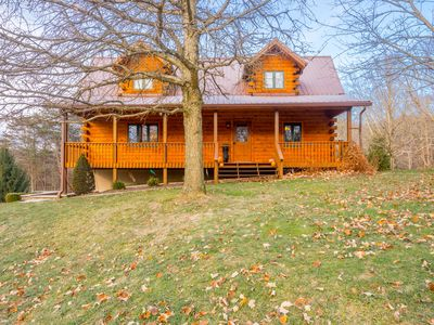 Photo for Secluded & Scenic Cabin in the HEART of Hocking Hills on 15 ac. w stocked pond!
