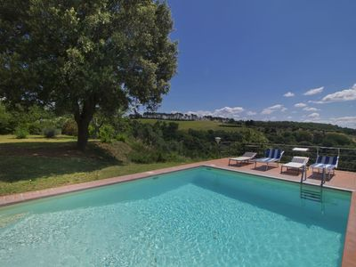 Photo for Beautiful private villa for 7 guests with WIFI, private pool, TV, balcony, pets allowed and park...