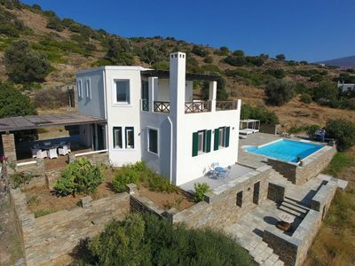 Photo for 4 Bedroom villa in Andros overlooking the Aegean Sea
