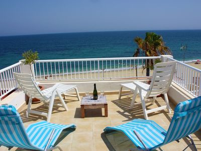 Photo for Aguilas Beachhouse -Two Terraces for Sunbathing with seaviews A/C-Wifi 600Mb-