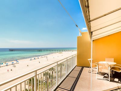 Photo for Colorful, waterfront condo w/ beach access, a shared pool, fitness center & more
