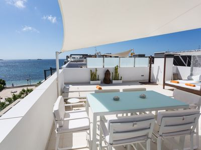 Photo for Luxury Beach Front Penthouse Apartment With Private Roof Terrace And Sea Views