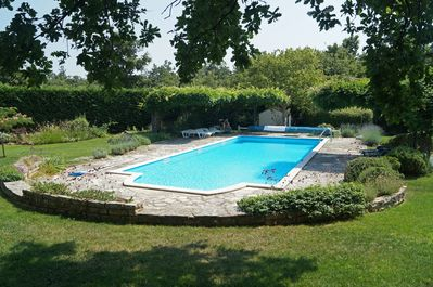 The 12x5m pool, shared only with the owner's