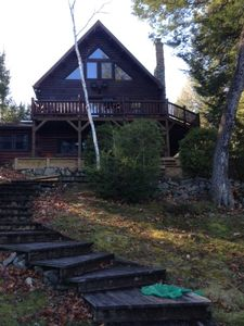 Photo for Year Round Log Cabin Built In 1989 On Long Lake (2,000 Sq Ft)