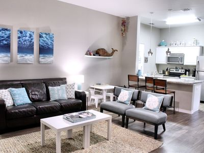Photo for Corner Unit! Beautiful, New 1 Bedroom, Sleeps 6, Close to the Beach, Great Pool!
