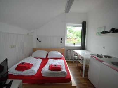 Photo for Small Double Room with Kitchenette - Flensbed Hostel & Boardinghouse