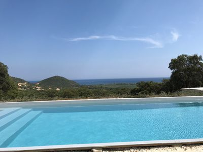 Photo for Villa with pool - splendid sea view sleeps 8