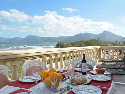 Photo for Spacious Verge de Lluc  apartment in Mallorca with WiFi, private terrace & balcony.