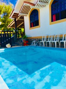 Photo for Wonderful 4 Bedroom House with Pool 20 mts from Vilas do Atlântico beach