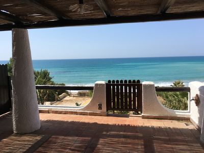 Photo for Villa Sciacca Lumia Mare (moon) just steps from the sea with Wi-fi
