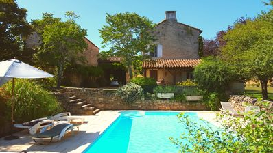 Photo for Restored farmhouse, stunning views, very quiet and private. Pool. Wifi