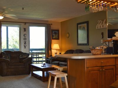 Photo for *Cozy Chalet* Steps to Slopes! Wood Fireplace FREE WIFI, Parking, TV/DVD,  W/D