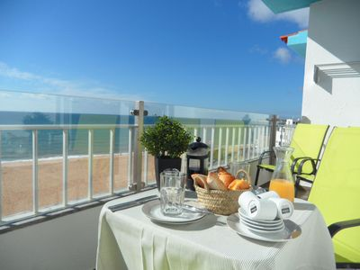 Photo for Best Panoramic Sea View In Armação De Pêra From This Modern Open Plan Apartment