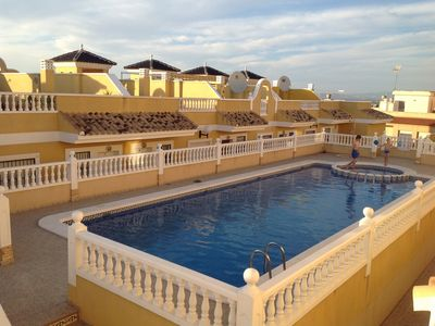 Photo for Townhouse in benijofar with very large shared pool FREE Wi-Fi & English TV
