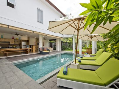 Photo for Del Mar4, 3 Bedroom Villa right by the beach, Seminyak