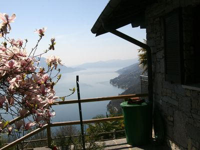 Photo for Large house with garden and stunning views of Lake Maggiore
